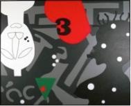 """Fig. 1- © José de Guimarães, Série """"Negreiros"""", 2009. Acrílico sobre tela."""