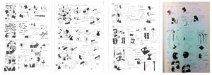 Fig. 6, 7, 8, 9 - © José de Guimarães, As variações camonianas, 1981. Desenhos sobre papel com tinta da china.
