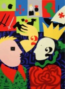 Fig. 4- © José de Guimarães, Camões e D. Sebastião, 1980. Guache sobre tela.